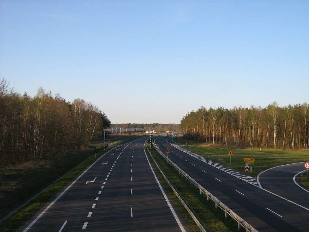 Goleniów, (Pologne) : fragmentation majeure d'un massif forestier par une autoroute