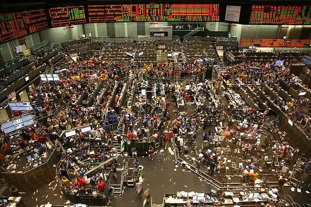 Bourse agricole à Chicago, ici des millions de tonnes de denrées alimentaires sont vendues chaque jour.