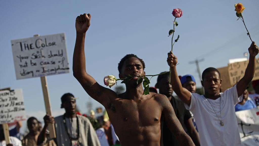 Manifestants à Ferguson